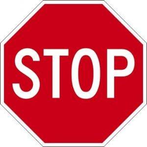 big red hexagonal stop sign