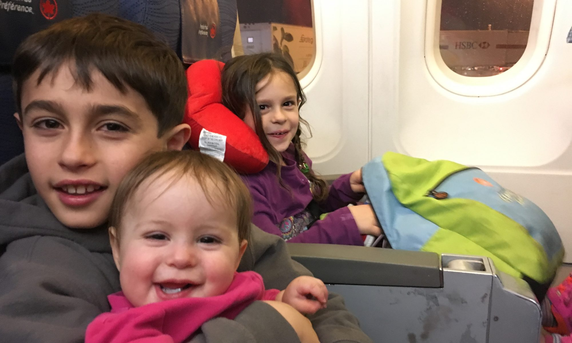 Traveling with children on a plane to San Francisco
